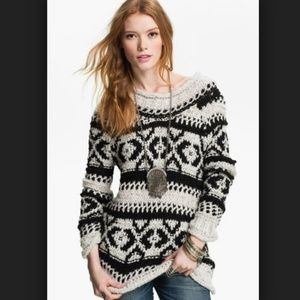 Free People SILVER REED Chunky Knit Sweater